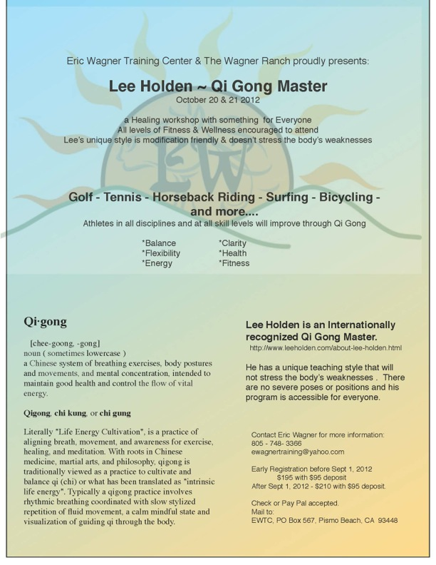 Eric Wagner Presents Lee Holden ~ Qi Gong Master