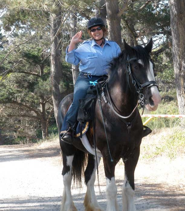 Lady Fiona and Judi, Mounted Patrol Volunteers