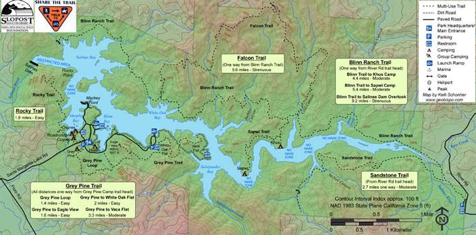 Santa Margarita Lake Trail Map