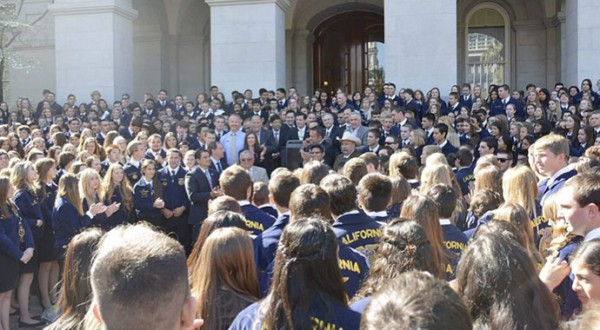 Pictured above, CAFFA members met at our capitol to voice their opinions on the #SAVEFFA campaign.