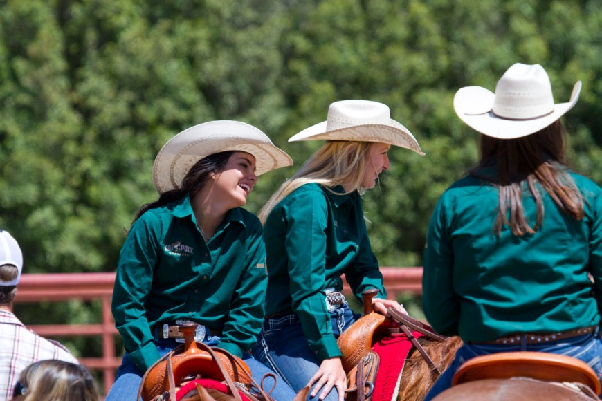 Cal Poly Performance Horse Sale - Students Chatting
