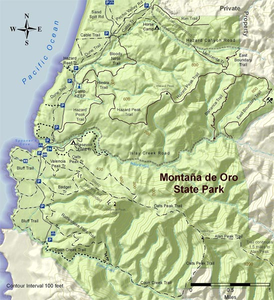 Montana de Oro Trail Map