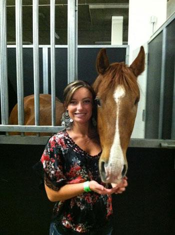Annie Spurr and Horse
