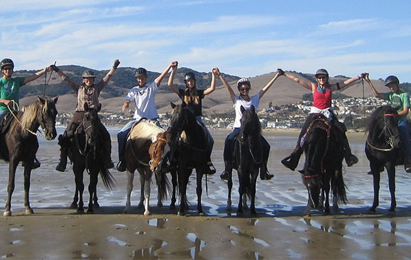 Bev and Crew on Pismo Beach