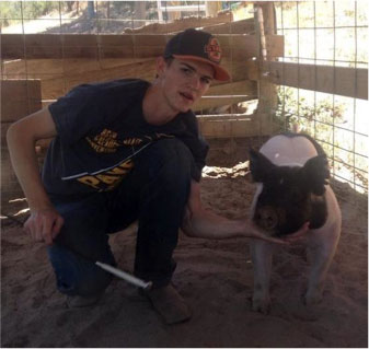"""Nathanael """"Bubba"""" Bourgault with Paso Robles FFA"""