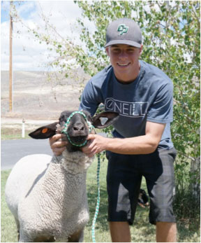 Cody Autry with Chaparral 4H