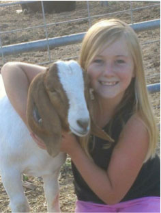 Kendall Savage with Chaparral 4H