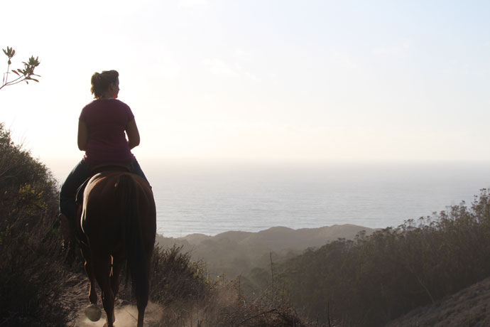 Nikki Egyed and OTTB Flying Cayman | Bloody Nose Trail, Montana de Oro, Los Osos, CA