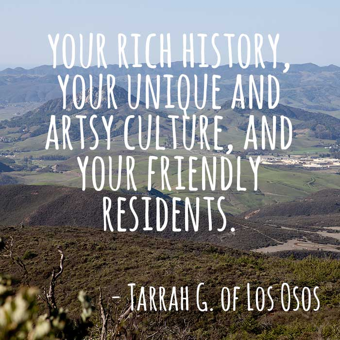 ThanksToSLO Message from Tarrah G of Los Osos