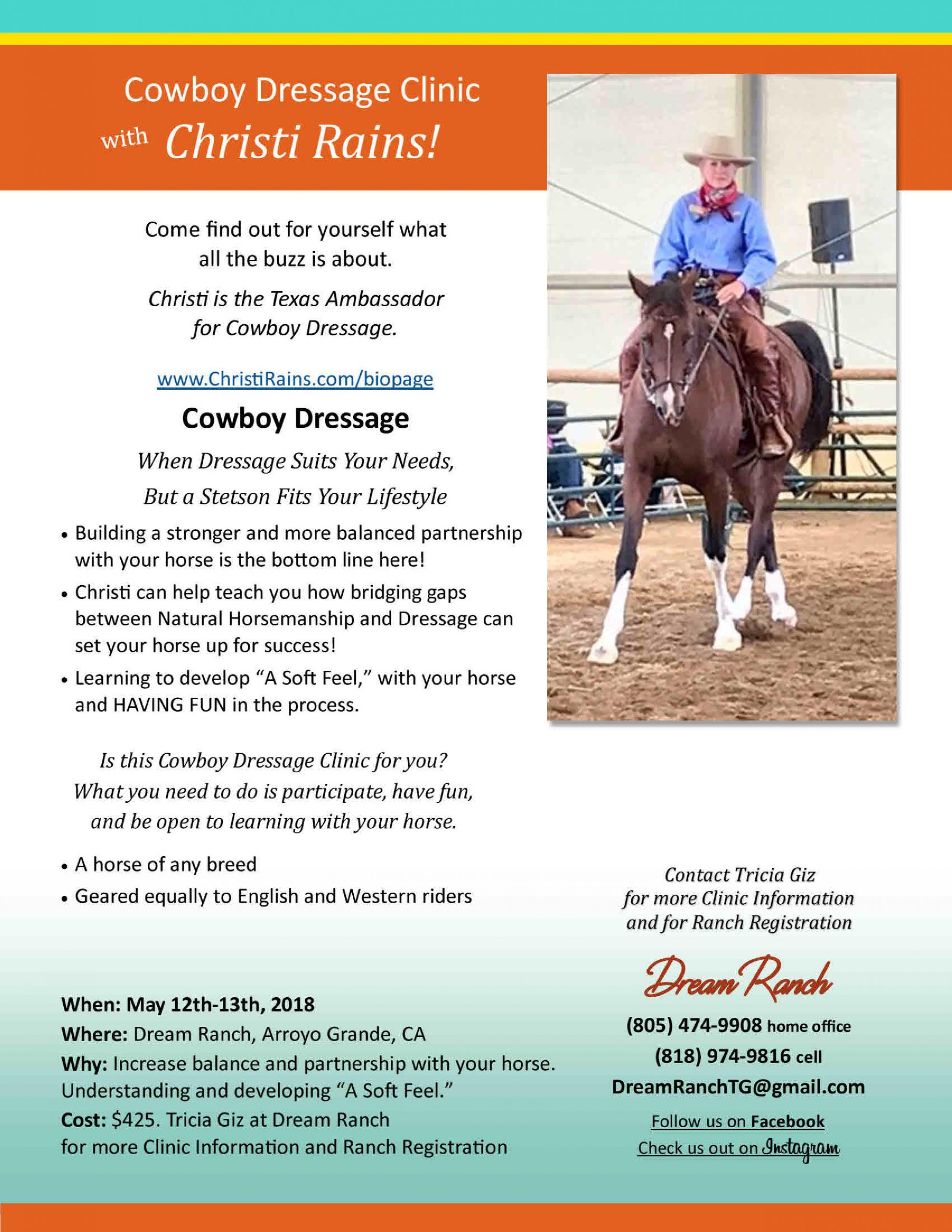 Apply the Game of Contact to Cowboy Dressage with Christi Rains   SLO Horse News
