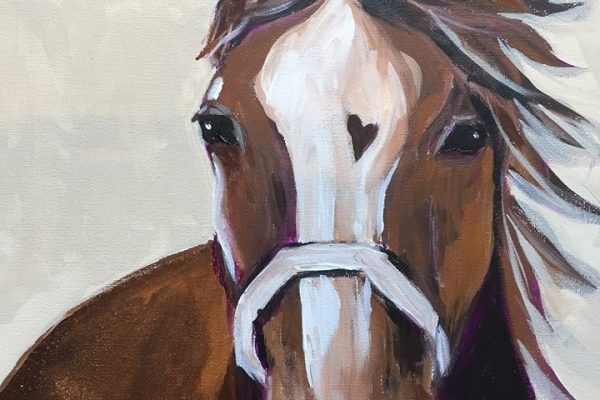 Enjoy a Creative Afternoon at the Natural Horse Paint and Sip Event | SLO Horse News