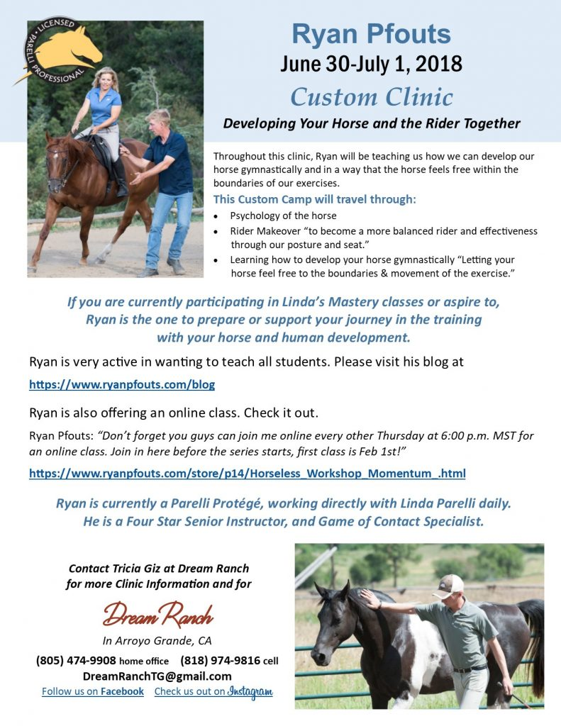Open up Your Horse's Freedom of Movement : Ryan Pfouts Custom Clinic | SLO Horse News