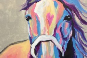 Paint, Sip and Socialize at the Colorful Horse Paint and Sip Event
