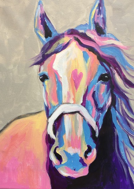 Paint, Sip and Socialize at the Colorful Horse Paint and Sip Event | SLO Horse News