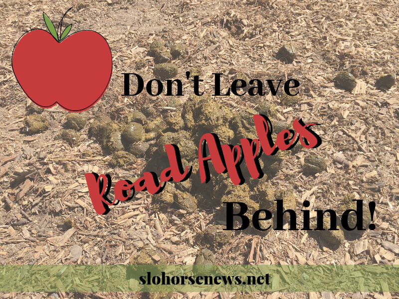Don't Leave Your Horse's Road Apples Behind | SLO Horse News