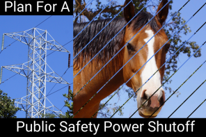 Human and Horse Survival Plan for a Power Shutoff
