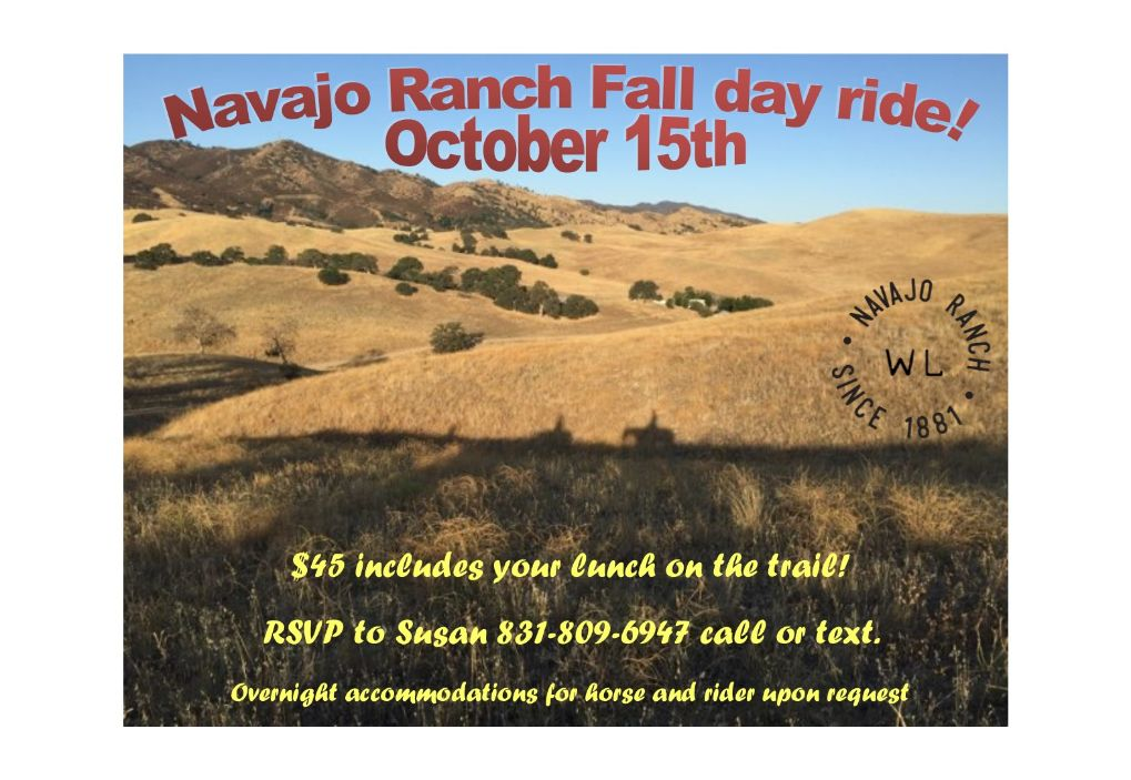 Enjoy A Day of Trail Riding with Others at Navajo Ranch | SLO Horse News