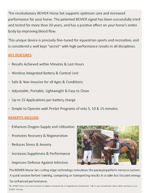 Calm Yourself and Your Horse Before a Show or Training Session with BEMER Therapy  | SLO Horse News