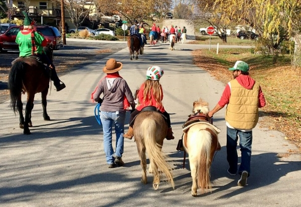 Gathering Toys as Usual: Toys for Tots Trail Ride is Modified   SLO Horse News