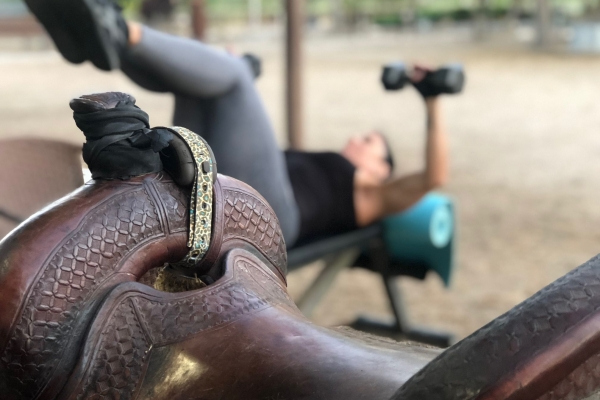 Gym Closed? Horse Riders Head Out to the Barn for a Barn Workout   SLO Horse News
