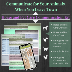 Horse and Pet Care Communication Kit with Checklist